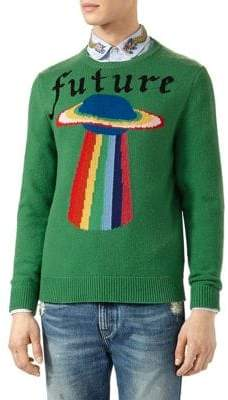 Gucci Planet Intarsia Wool Sweater