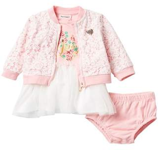 Juicy Couture Lace Overlay 3-Piece Set (Baby Girls)