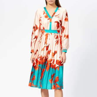 Ted Baker Women's Karolyn Fantasia Bow Neck Midi Dress