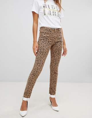 New Look Hallie Leopard Print Jeans