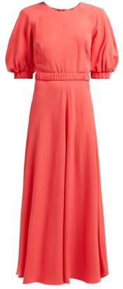 Goat Hannah Belted Crepe Maxi Dress - Womens - Fuchsia
