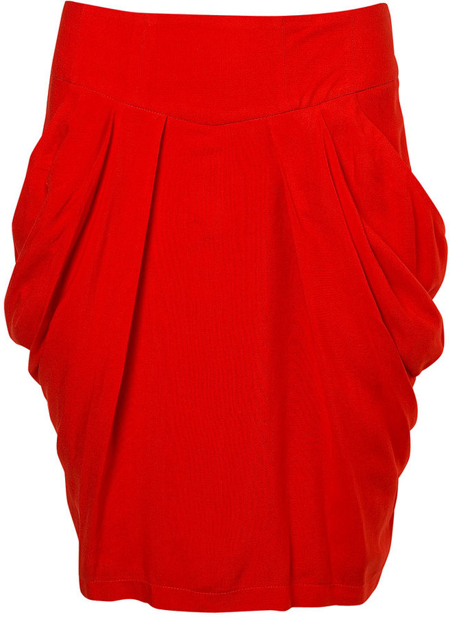 Drape Side Tulip Skirt