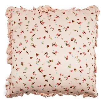 Floral silk satin cushion