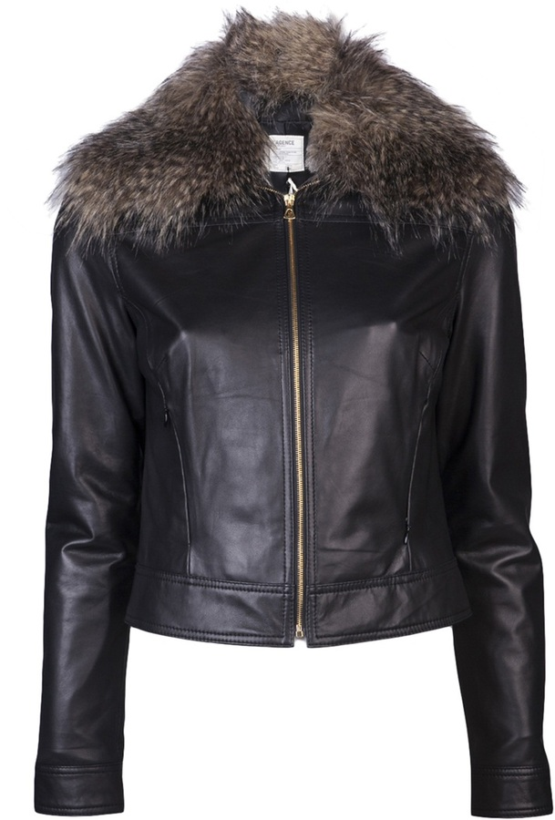 L'Agence Faux fur jacket