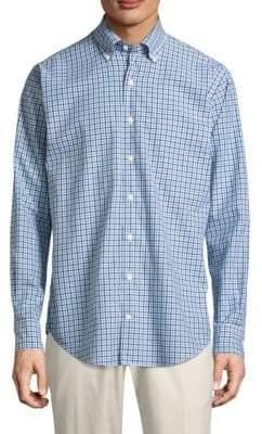Peter Millar Crown Plaid Cotton Button-Down Shirt