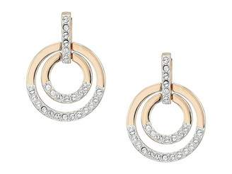 Swarovski Medium Circle Pierced Earrings