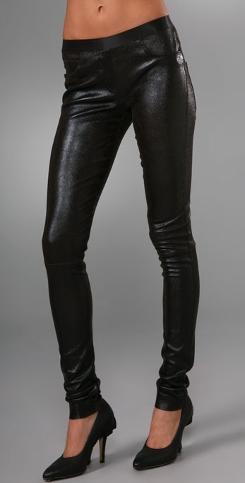 Les Chiffoniers Stitch Leather Jean Leggings