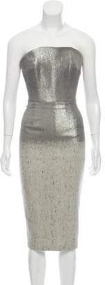 Victoria Beckham Metallic Sheath Dress w/ Tags