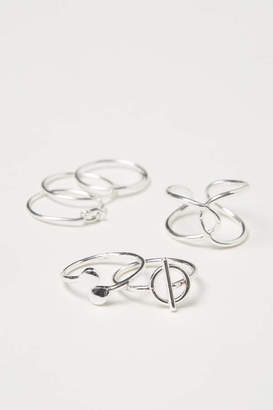 H&M 6-pack Rings - Silver-colored - Women