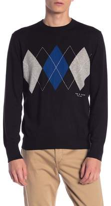 Rag & Bone Joel Crew Neck Argyle Sweater