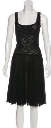 Fuzzi Sleeveless Midi Dress