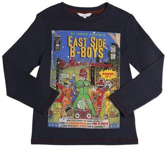 Little Marc Jacobs East Side Boys Cotton Jersey T-Shirt