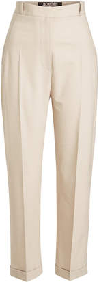 Jacquemus Cropped Pants with Virgin Wool
