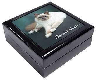 Birman Cat 'Special Aunt' Keepsake/Jewellery Box Christmas Gift