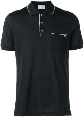 Salvatore Ferragamo front pocket polo shirt