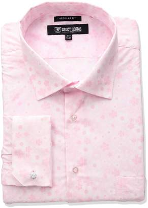 Stacy Adams Men's Big-Tall Floral Dress Shirt