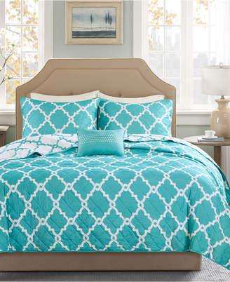 Madison Park Essentials Merritt Reversible 4-Pc. King/California King Coverlet Set Bedding