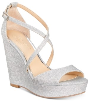5dd59df7ff6e3d Badgley Mischka Averie Evening Wedge Sandals Women s Shoes