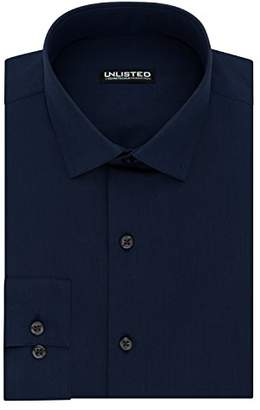 Kenneth Cole Unlisted Men's Slim Fit Solid Spread Collar Dress Shirt