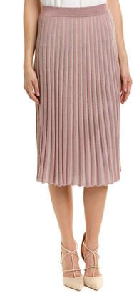 Rebecca Taylor Lurex Rib Wool-Blend Skirt