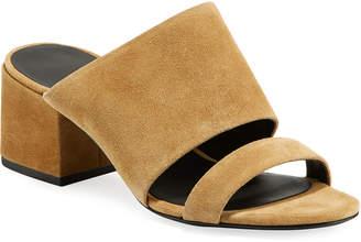 3.1 Phillip Lim Cube Suede Double-Strap Sandal