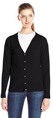 Dockers Women's V-Neck Cardigan Sweater $60 thestylecure.com