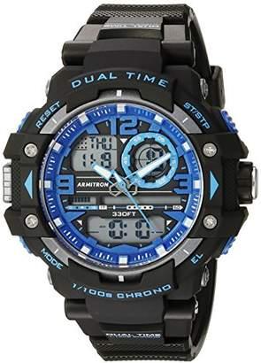 Armitron Sport Men's 20/5062BLU Blue Accented Analog-Digital Chronograph Black Resin Strap Watch