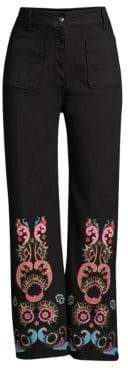 Etro Paisley Embroidered Ankle Jeans