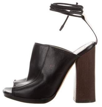 Reed Krakoff Leather Wrap-Around Sandals
