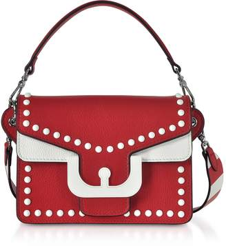 Coccinelle Ambrine Graphic Studs Color Block Leather Crossbody Bag