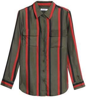 Equipment Striped Silk-Twill Shirt