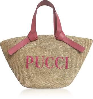 Emilio Pucci Raffia Signature Bucket Bag