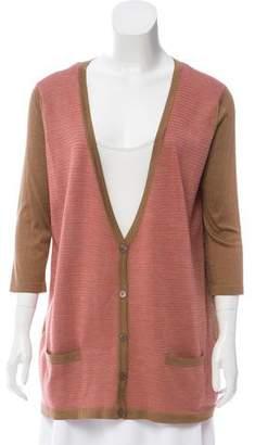 Rochas Silk Button-Up Cardigan