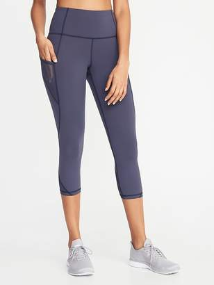 6fa468bca5d Old Navy High-Rise Elevate Side-Pocket Mesh-Trim Compression Crops for Women