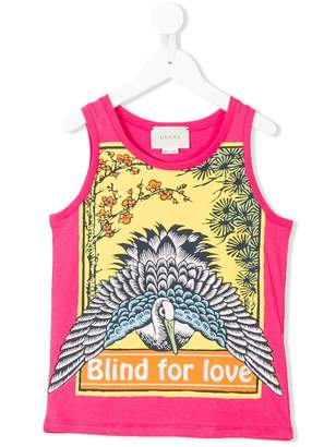 Gucci Kids blind for love print tank top