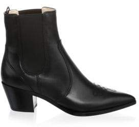 Gianvito Rossi Western Leather Chelsea Boots