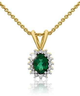 Passiana Emerald Halo Necklace