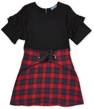 Truly Me Girls 7-16) Ruffle Plaid Dress