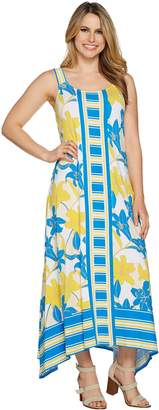 C. Wonder Petite Printed Handkerchief Maxi Dress