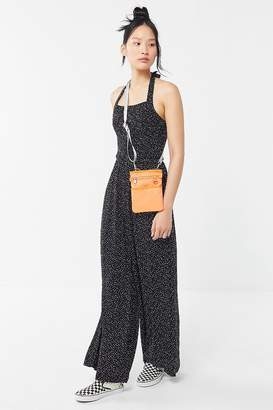 Urban Outfitters Lola Smocked Halter Jumpsuit