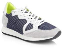 Philippe Model Monaco Leather Mesh Sneakers