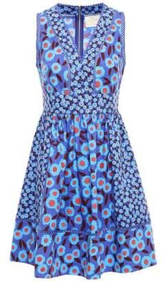 Kate Spade Floral-print Cotton-blend Mini Dress