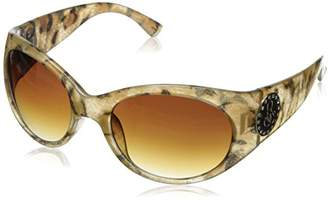 Rocawear Women's R3032 ANGLD Oval Sunglasses
