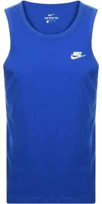 Nike Club Logo Vest T Shirt Blue