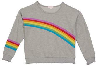Design History Girl's Rainbow Sweatshirt, Size S-XL