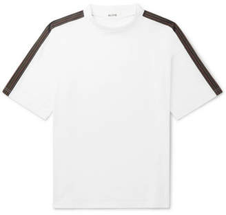 Aloye Oversized Panelled Cotton-Jersey T-Shirt