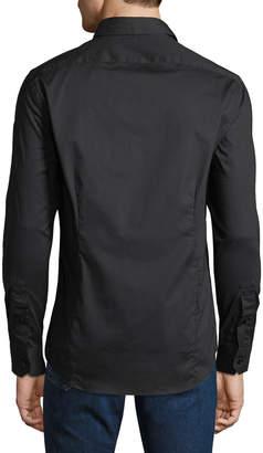 Roberto Cavalli Men's Slim-Fit Stretch Dress Shirt, Black