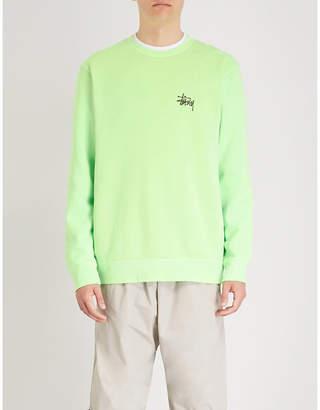 Stussy Logo-print cotton-blend sweatshirt