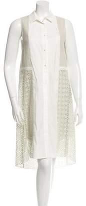 O'2nd Eyelet High-Low Dress