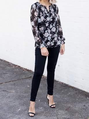 Jeanswest Alira High Waisted Skinny 7/8 Jean-Velvet Black-6